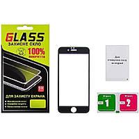 Защитное стекло для APPLE iPhone 6 Full Glue (0.3 мм, 2.5D, чёрное) Люкс (ID:16080)
