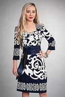 Стильное женское платье с кожаным поясом