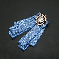 Брошь-галстук из лент под воротничок L- 13см