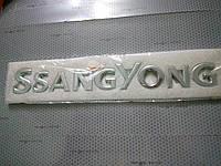 Надпись SSANG YONG  25х3,5 см