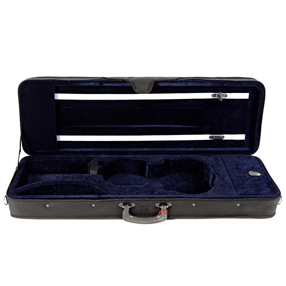 Кофр для скрипки размер 4/4 синий бархат