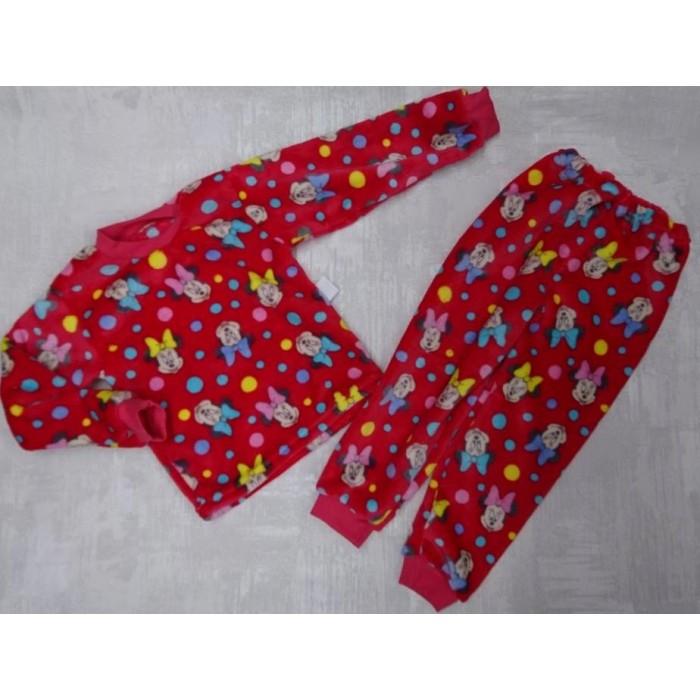 Красивая пижама для девочки из велсофта с принтом Минни Маус 30-36 р, детские пижамы оптом от производителя