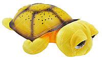 """Ночник """"музыкальная черепаха"""" проектор звездного неба UKC Big желтый"""
