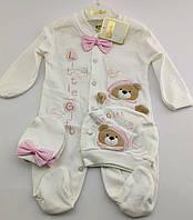 Человечек 3 месяца Турция для новорожденного на девочку человечки новорожденных велюр