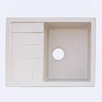 Гранитная кухонная мойка Platinum 6550 Песок