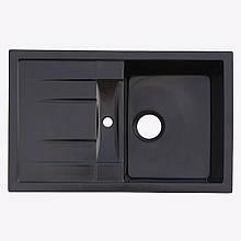 Гранітна плита, мийка Platinum 7850 Чорний глянець
