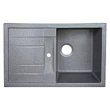 Гранітна плита, мийка Platinum 7850 Сірий глянець