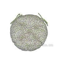 Подушка на стул Прованс Цветы Олива круглая диаметр 40 см