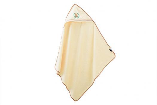 Полотенце с уголком для купания 100х100 Мишка
