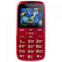 Мобильный телефон Sigma Comfort 50 Slim2 Red (4827798211922)
