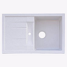 Гранітна плита, мийка Platinum 7850 Білий в точку