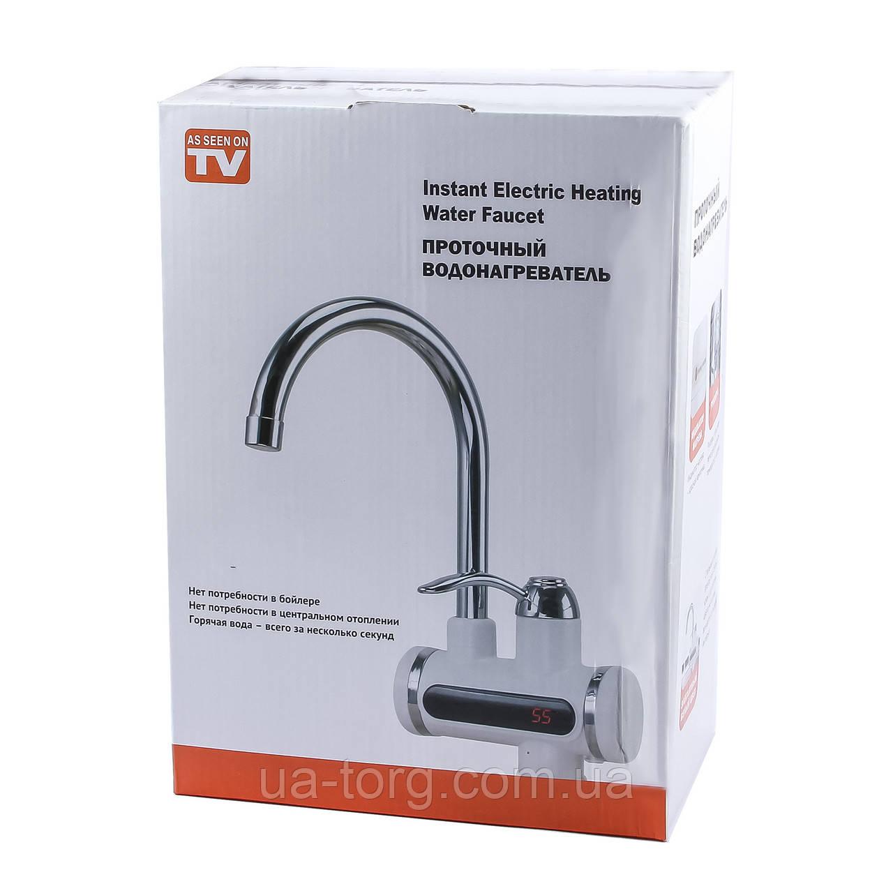 Проточный водонагреватель Instant Electric Heating Water Faucet без индикатора температур
