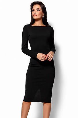 (S, M) Вечірнє чорне плаття з відкритою спиною Lola