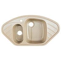 Гранитная кухонная мойка Platinum 9250 W Песок