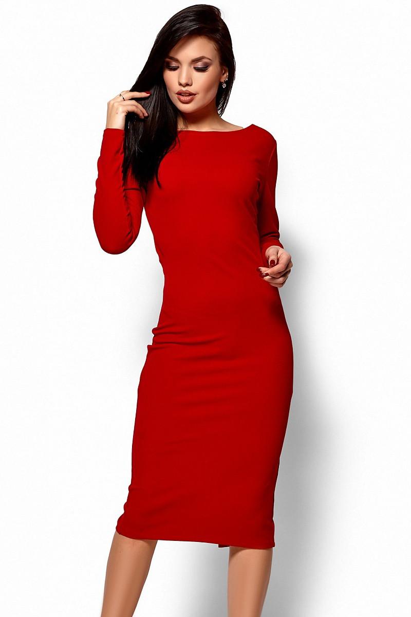 c094e3fa0752f9 (S, M) Вечірнє червоне плаття з відкритою спиною Lola -