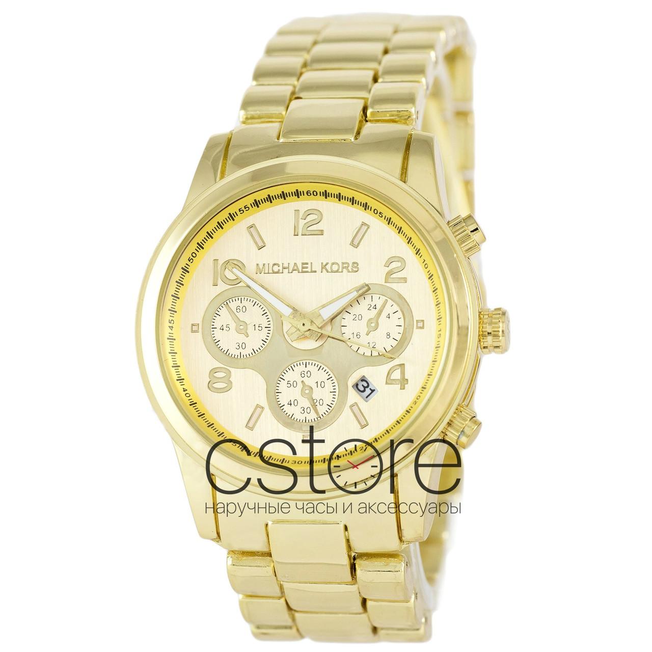 9d9e85f87603 Мужские наручные часы Michael Kors MK-10278 желтое золото с золотистым  циферблатом (22195)