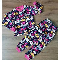 Теплая детская пижама из велсофта с красочным принтом 30-36 р b6a44c140000b