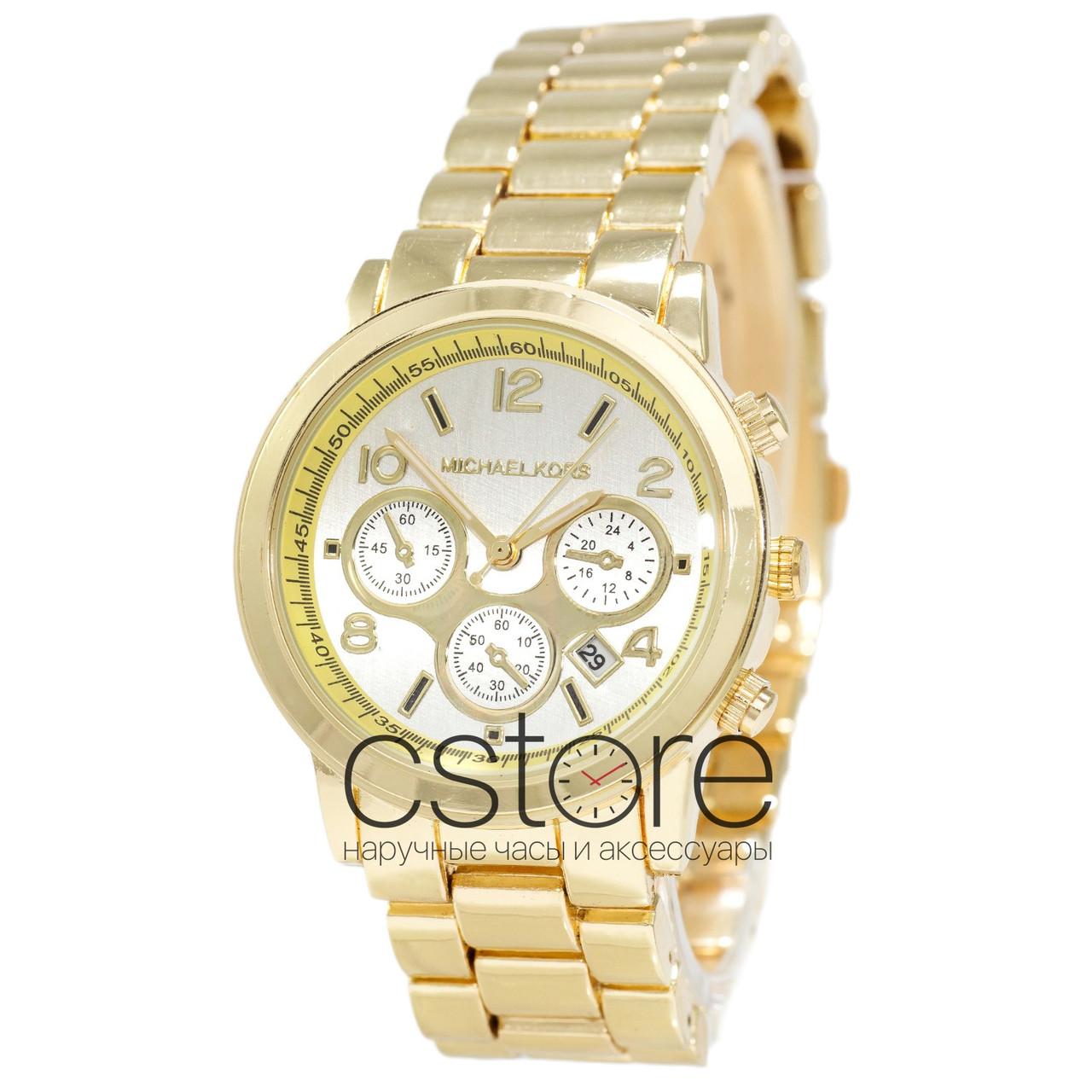 9c1378e49d35 Мужские наручные часы Michael Kors MK-10278 желтое золото с серебристым  циферблатом (22209)