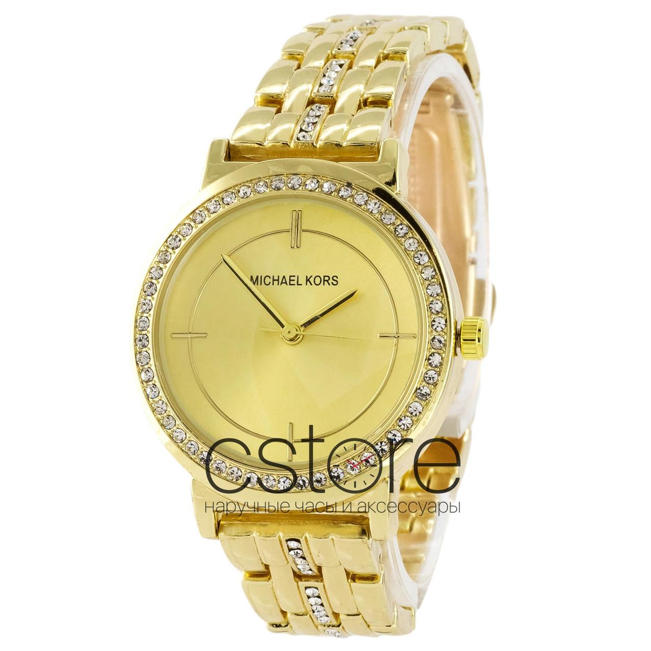 Женские наручные часы Michael Kors желтое золото с золотистым циферблатом  (22235) 65713080cf8