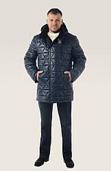 Модная тёплая зимняя куртка, простеганная на современном утеплителе геометрическим рисунком