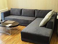 Перетяжка углового дивана. Перетяжка мягкой мебели Днепр.