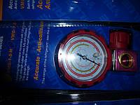 Манометр. коллектор одновентильный VALUE VMG -1-S-H  Type2 (R 410,407,22,134)   красный с глазком