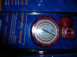 Манометр. колектор одновентильный VALUE VMG -1-S-H Type2 (R 410,407,22,134) червоний з вічком