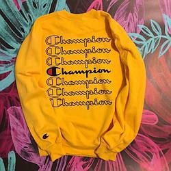 Champion свитшот желтый  • мужской и женский • Бирки и Живые фотки