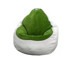 Кресло мешок PufOn, Гибрид XL, Белый, Зеленый