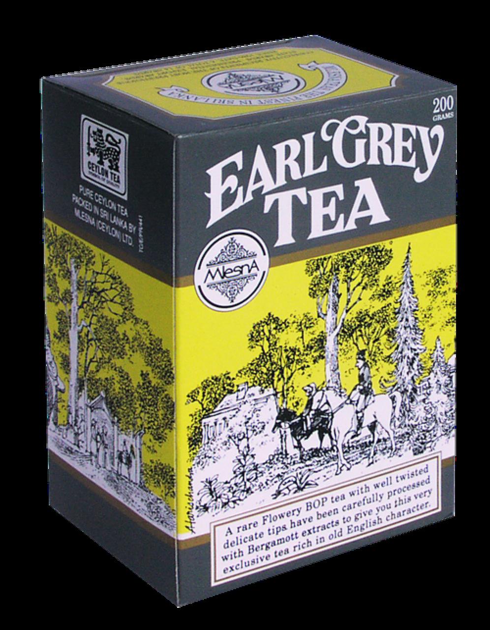 Черный чай Эрл Грей с ароматом бергамота, EARL GREY BLACK TEA, Млесна (Mlesna) 100г.
