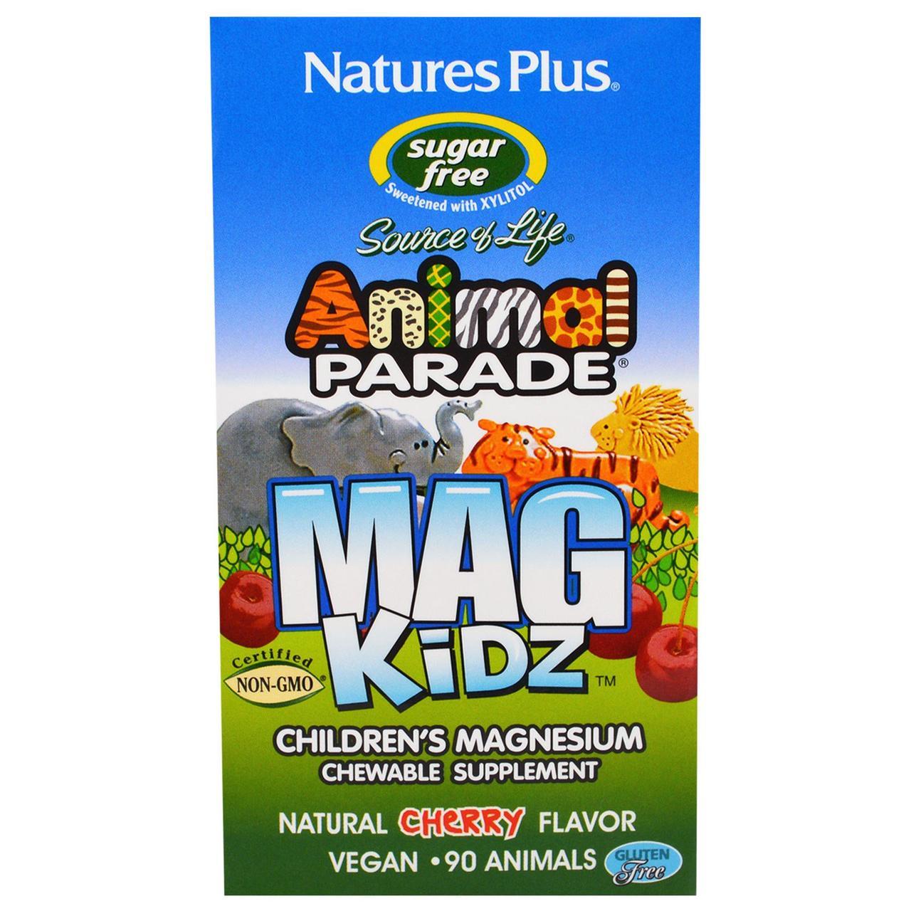 Магний для детей, вкус натуральной вишни, 90 жевотных Nature's Plus