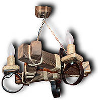 Люстра подвес из натурального дерева на 3 лампы. Код KL-C3/Б/