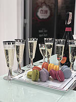 Бокалы Capital For People пластиковые многоразовые шампанское для презент. Полная сервировка стола 6 шт 130 мл, фото 1