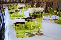 Сервировочные стаканы стекловидные CFP 6шт/уп для фуршета банкета презентации выставки party 74мм 220мл