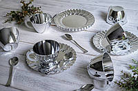 Чайно-кофейный набор Capital For People стеклопластик для презентации. Полная сервировка стола.  6 шт 130 мл, фото 1
