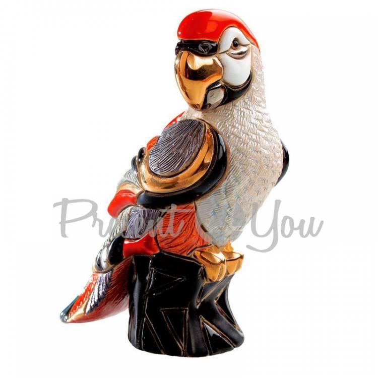 Статуэтка «Красный попугай» De Rosa Rinconada, Уругвай, h-12 см