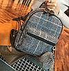 Рюкзак женский шерстяной с помпоном Серый, фото 3