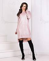 Женское платье-туника свободного кроя