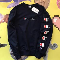 Champion - Logo С свитшот черный  • мужской и женский • Бирки и Живые фотки