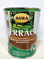 Aura Terrace 0,9л - пропитка для дерева з тунговим маслом!