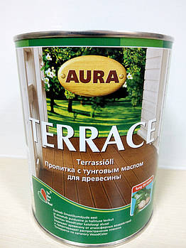 Aura Terrace 0,9л - просочення для дерева з тунговим маслом!