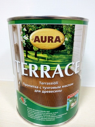 Aura Terrace 0,9л Пропитка для дерева з тунговим маслом