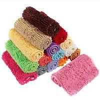 Набор ковриков для ванной, микрофибра лапша, 50х80, красный (W02)