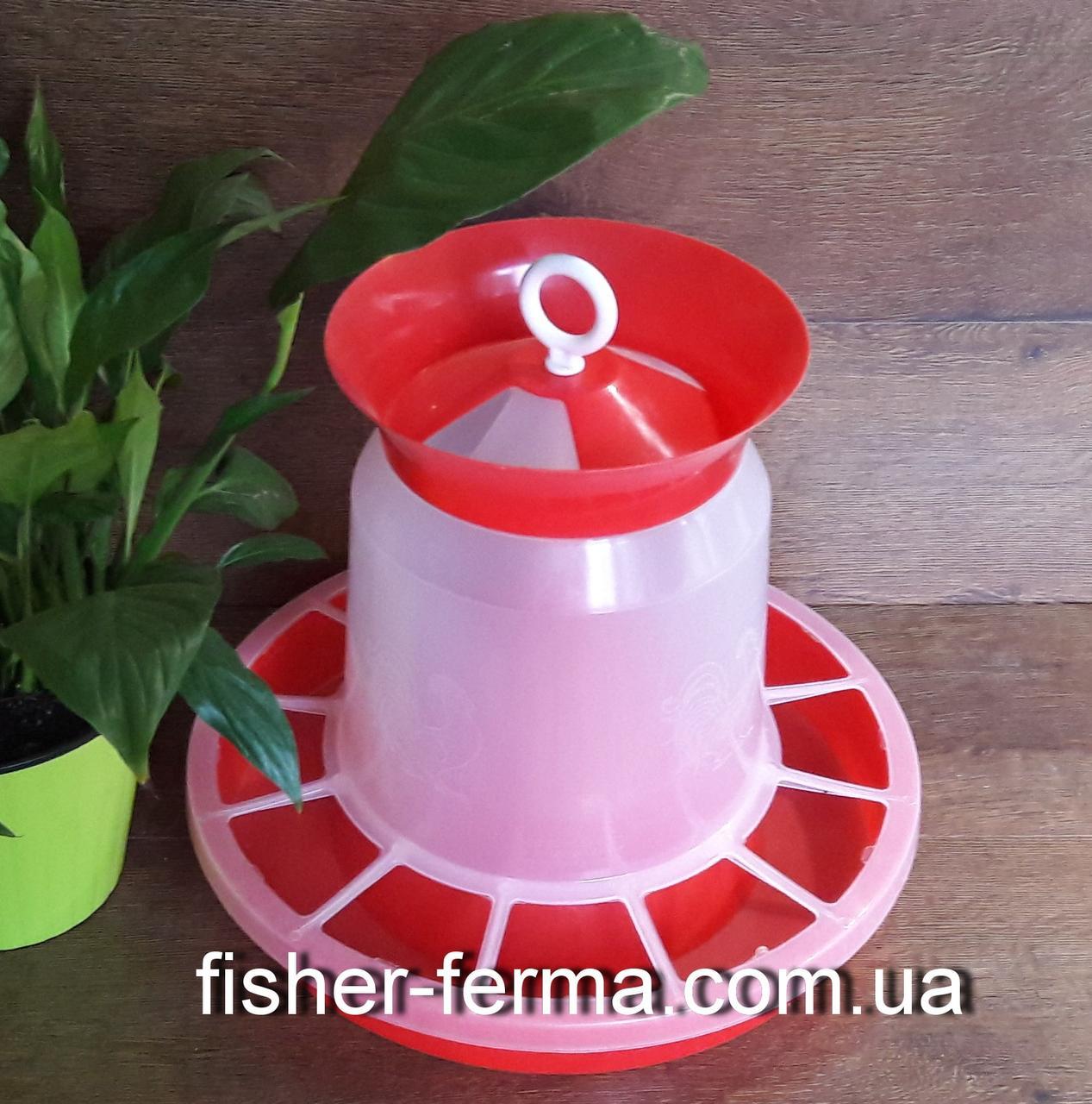Кормушка с клапаном для домашней птицы объем 10 л