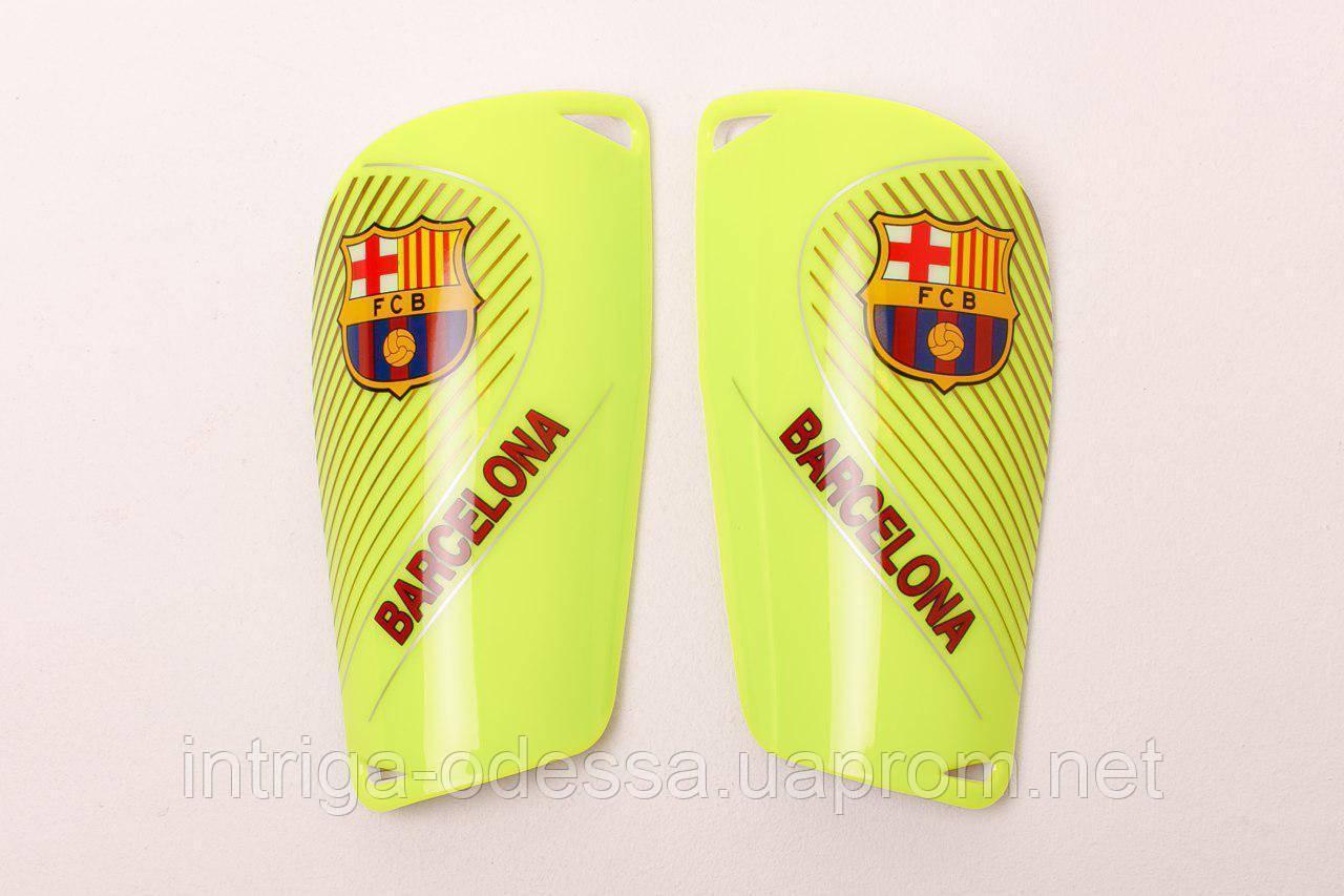 Щитки для футбола  Барселона салатовые 1085