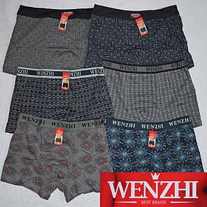 Mужские трусы  боксеры Wenzhi 3205,3207-2 L В комплекте 6 трусов. Размер 46-48