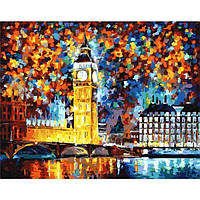 Картина по номерам Краски вечернего Лондона. Леонид Афремов без коробки