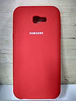 Силиконовый матовый чехол Soft Case Red Samsung Galaxy A720 ( A7-2017)