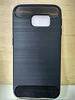 Силиконовый противоударный черный чехол Samsung Galaxy S6 Edge