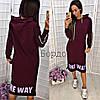"""Спортивное женское платье с капюшоном """"One Way"""", фото 3"""